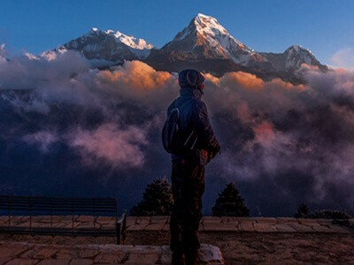 Annapurna south view from poon hill
