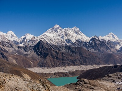 Gokyo valley with Everest view from renjo la pass